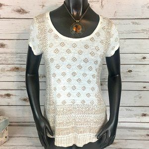 Lucky Brand Aztec Print Tee - Size S